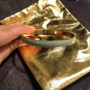 Jcrew bracelet- mint and gold